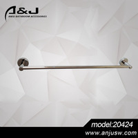 Durable Factory production of wall mounted chrome plated zinc alloy single towel bar,towel rack