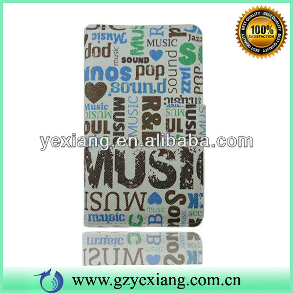 OEM for Samsung note 2 n7100 wholesale cell phone leather case
