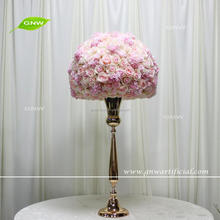 GNW CTRA 1708007 Newly designed unique artificial light pink rose wedding table centerpiece decoration