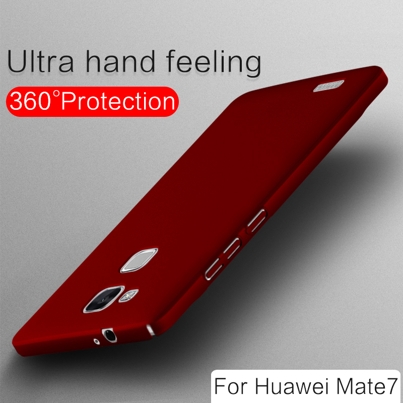 2016 Scrub paint ultrathin slim ascend bumper hard pc fashion women man simple business smart phone cover case of huawei mate 7
