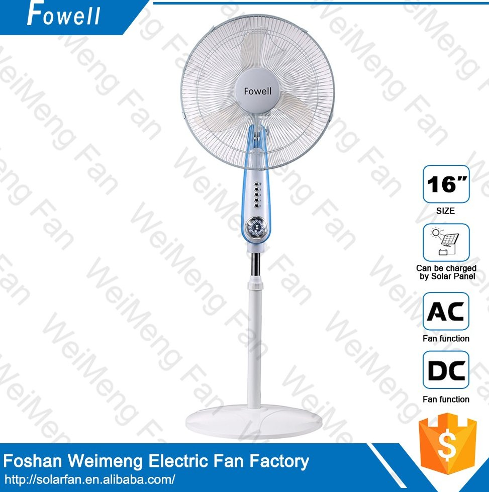 Cheap Price solar Ac/Dc Stand Fan can connect solar panel