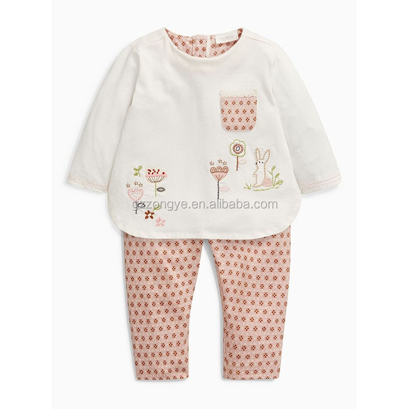 Baby cotton t-Shirt and leggings printed suits