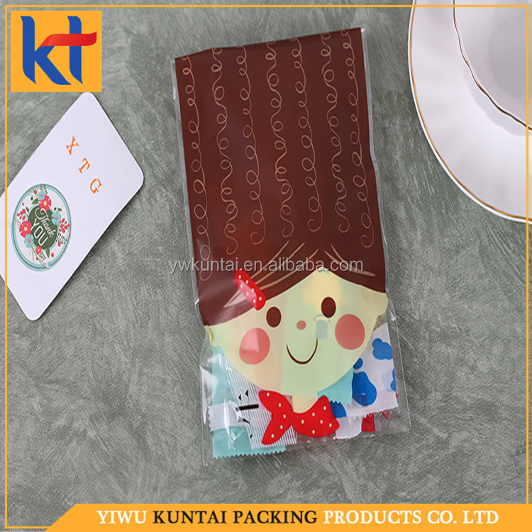 Yiwu factory wholesale security seal disposable stand up packaging pattern printed opp food bag.plastic food bags
