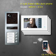 IP wifi intercom RFID keyfobs video door bell for apartment