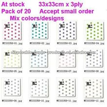 Wholesale Spots Lunch Napkins polkadot paper napkins 12 colours