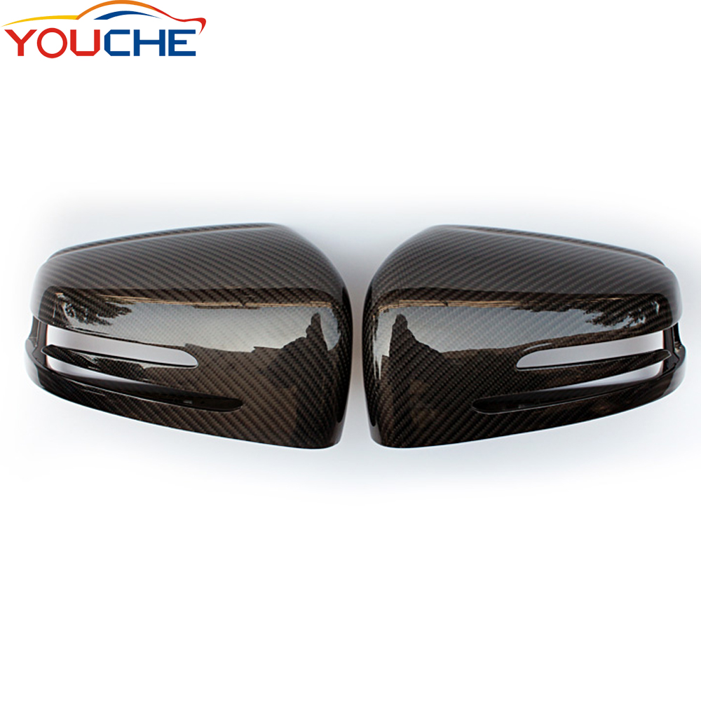 Replacement carbon fiber mirror cover caps for Mercedes W204 W207 W176 W117 W212 W218 side door mirrors for A CLA E <strong>C</strong> CLS class