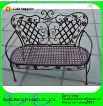 High Quality Decorative Wrought Iron Kids Park Bench