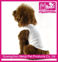 Wholesale Customized Blank Dog T Shirt Pet Clothes in 5 Colors Cheap