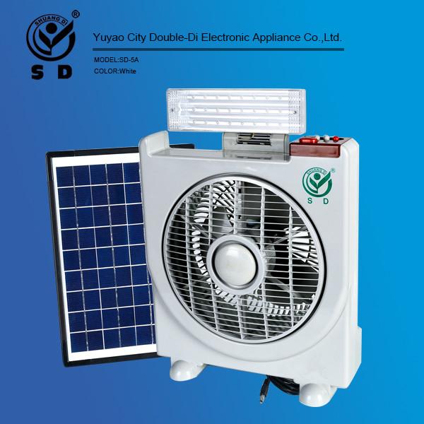 Table fan 12v solar dc fan rechargeable led light with fan for 12v dc table fan price
