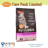 Biodegradable pet packaging bag with zipper for dog and cat food