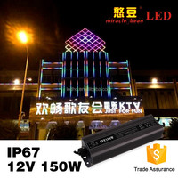 85% efficiency waterproof iron shell 150w constant voltage DC12V 24V output voltage electronic led driver