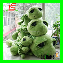 cute Plush stuffed green turtle with spots shell