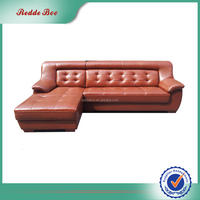 Reasonable price italy leather sofa extra large L-shape modern leather sofa
