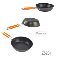 New Product Kitchen Appliance Stainless Steel Frying Pan with Handle