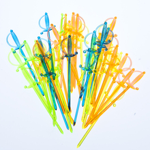 11CM Crystal Colorful Cocktail Bar Picks Top Quality Plastic Food Picks