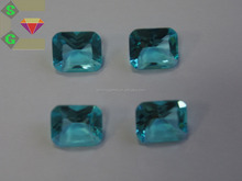 factory price loose cubic zirconia cushion cut blue zircon lab gem CZ stones