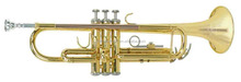 Professional trumpet gold lacquered finish musical instruments ABC1409