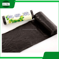 black disposable bin liner refuse sacks plastic trash garbage plastic rubbish bags flat bag on roll hdpe rubbish bin liner