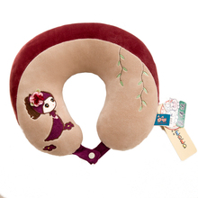 PP Cotton U shape neck pillow use in travel and nap protects the neck