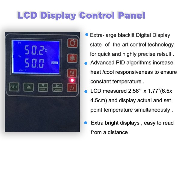 50L,-30 LCD Display low-temp stirring reaction bath /refrigerated bath