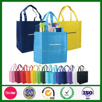 Promotional High quality advertised environmental pp non woven shopper bags