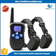Top E Shock Stop Two Dogs Bark Training Collar Used Top Barking Dog Remote Slave Collar Agility Training System Device