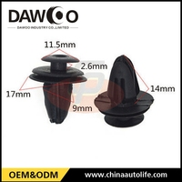 used for GM auto door panel trim clips fastener 9mm diameter