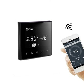Digital Room Wifi Thermostat Heating And Cooling Celsius Or Fahrenheit Degrees Display