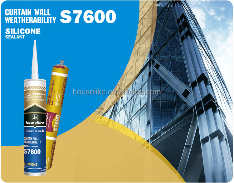 Neutral Silicone Sealant S7600 Curtain Wall silicone sealant factory