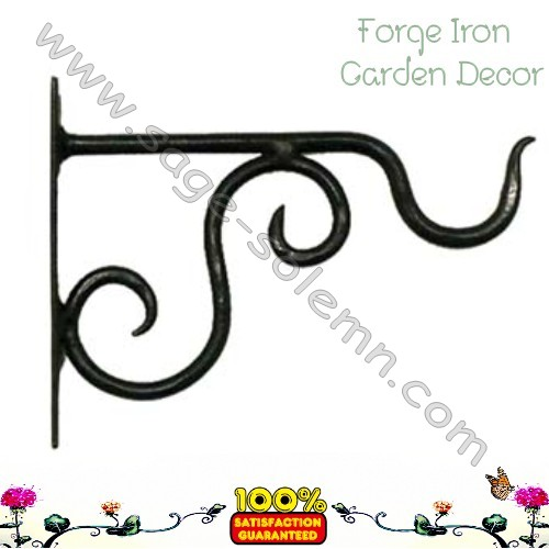 Antique Black Hanging Plant Bracket