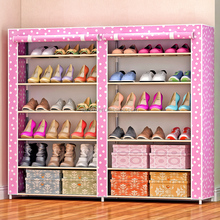 Hot 6 tiers shoe cabinet organizer closed foldable non-woven fabric shoe rack with cover