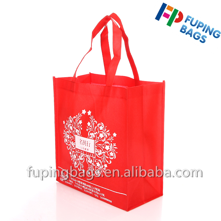 recycled promotional gift packaging 80g non-woven bags With Logo printing