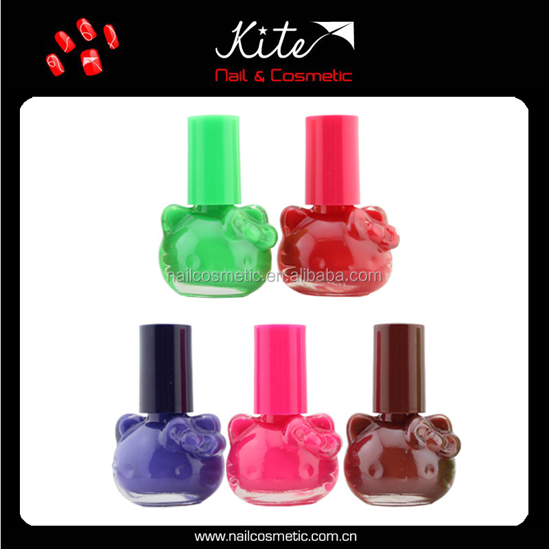 Many Color Options Natural Eco-friendly Nail Lacquer/Nail Use Nail Polish Wholesale/Cute Cat Bottle Private Lable Nail Polish