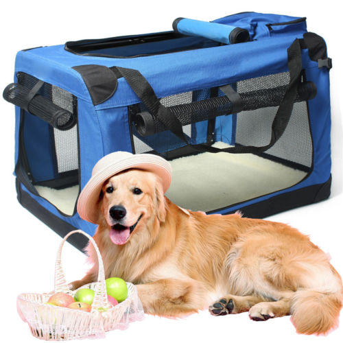 New Large Pet Carrier Sided Cat Dog Bag Travel Approved Portable Foldable Pet Tote Shoulder Bag