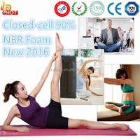 Tear reistant NBR foam 1/2 inch yoga gym mat thermal insulation foam exercise mat