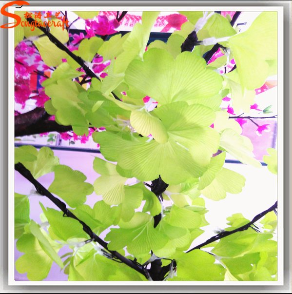 Led lighted artificial Ginkgo biloba leaves cherry blossom Led for decoration
