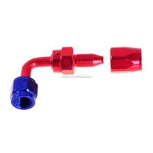 AN4,6,8,10 0/45/90/180 Degree Mini Fuel Hose Fitting, hose connector