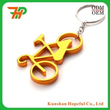 Custom alloy aluminum / metal bicycle keychain bottle opener, bicycle keyring, bicycle keychain