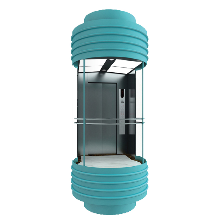 Safe factory price observation lift direct sell elevator section detail