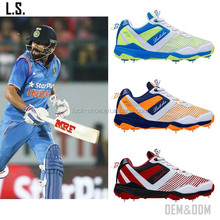 professional athletic cricket shoe spikes hot sale blue Mens Cricket sport shoe EXW custom cricket sport shoe