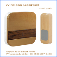 AC plug in wireless long range doorbell with ding dong doorbell sounds