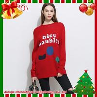 Five-star pullover christmas woman sweater with low price