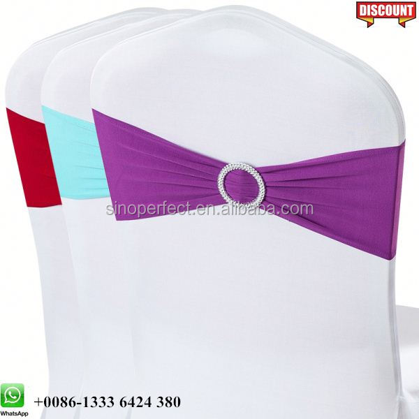 Foshan Guangzhou Quality spandex chair sash with buckle for wedding event