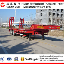 2016 China Factory competitive price 3 axle gooseneck low bed semi trailer for widely used excavator transport