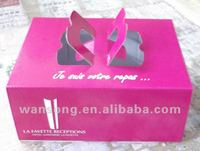 Alibaba china factory custom paper wedding cake boxes with design
