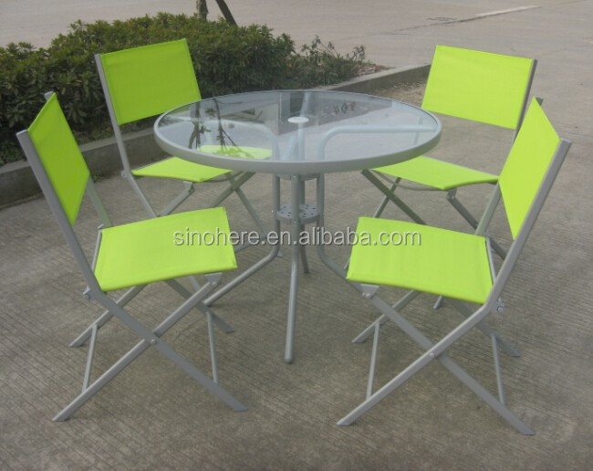 Garden steel chair and table