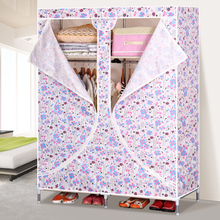 Suoernuo 1923D Single Door Bedroom Wardrobe Design Folding Fabric Cloth Closet Bedroom Wardrobe Cabinet