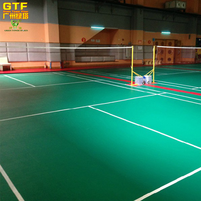 Used Badminton Court Sports Flooring PVC Vinyl Flooring