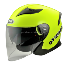 ECE & DOT Motorcycle 3/4 Open Face Half Safety Helmet With Full Face Shield Visor YM-630