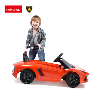 Lamborghini MP3 songs Rastar kids large plastic toy electric ride on car for kids